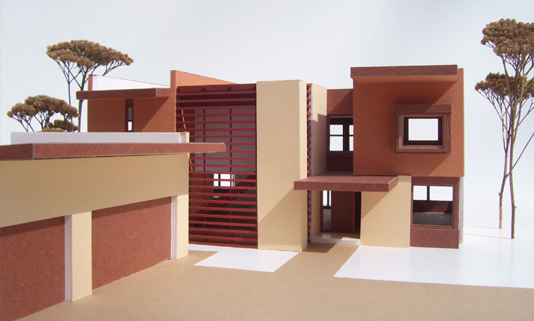Stucco Contemporary Residence 2