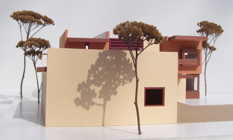 Stucco Contemporary Residence 3